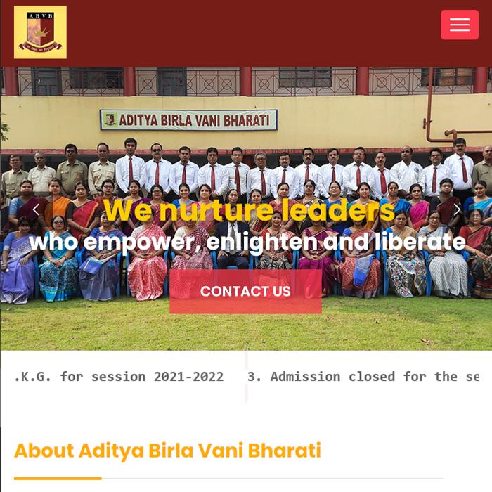 Aditya Birla Vani Bharati School Portal